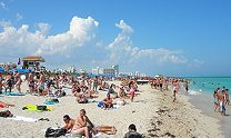 photo by Marc Averette. A typical winter day on South Beach, Miami Beach, Florida