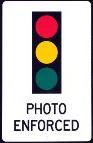 red light camera warning
