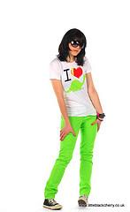 Lime Green Scene Skinny Jeans