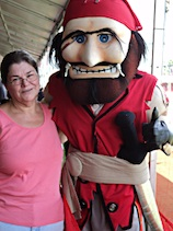 Karen Miller with Captain Fear