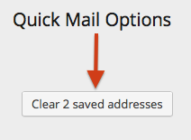 Clear saved addresses in Quick Mail 1.2.0
