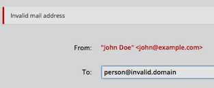 invalid domain was entered