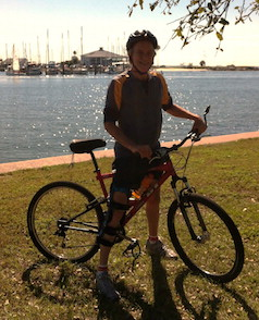 Mitchell D. Miller on a GT RTS-3 bicycle in Tampa, Florida.