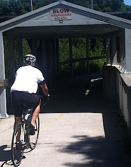 covered bridge on Upper Tampa Bay Trail