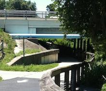 bridge under highway. Upper Tampa Bay Trail. Tampa, Florida