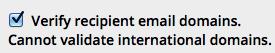 Quick Mail validation option