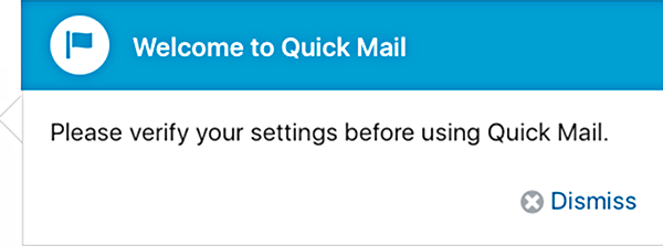 Welcome to Quick Mail.