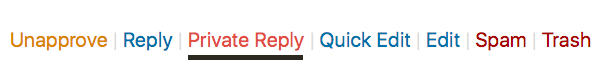 New option: send private reply to comment with Quick Mail