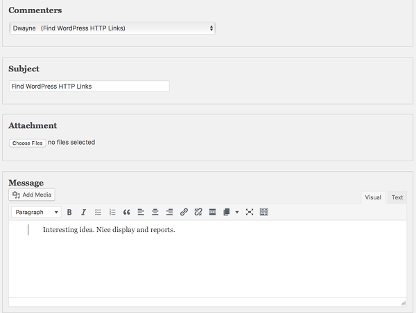 display commenters setting in Quick Mail 3.1.0