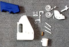 larger image of parts needed to assemble Defcad Liberator Pistol