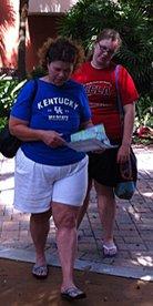 Karen and Susie at The Florida Botanical Gardens
